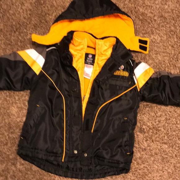 sale retailer f92e8 612ce NFL Reebok Steelers Winter Jacket / Hood